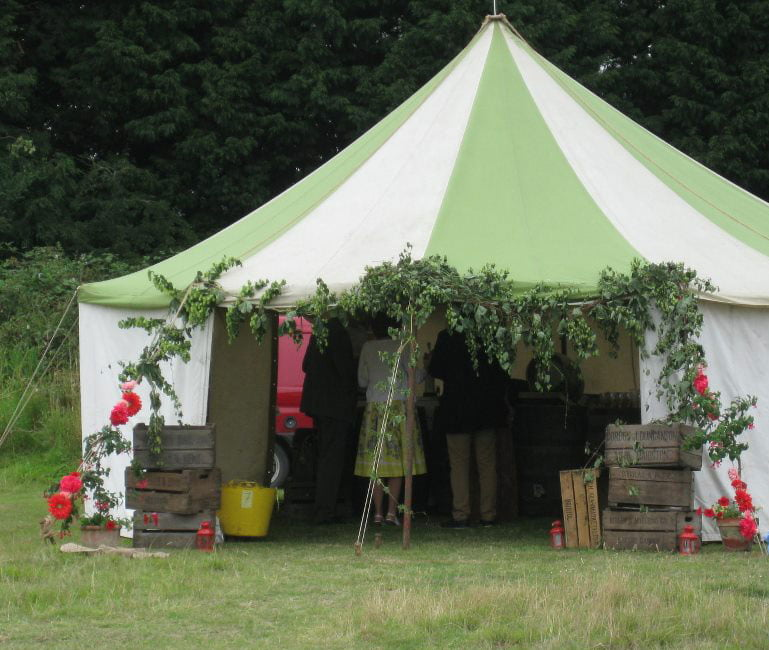 Rustic wedding marquee for a summer wedding