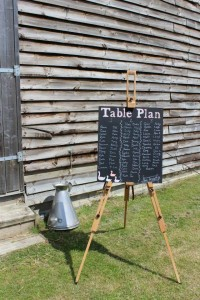 Chalkboard table plan