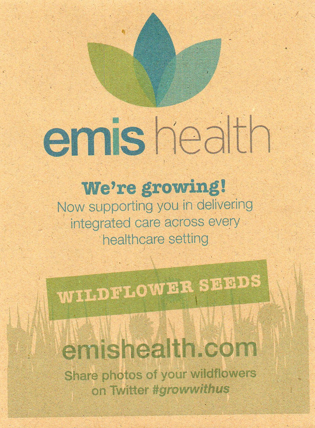 Eco-friendly & recycled promotional seed packets for events & businesses