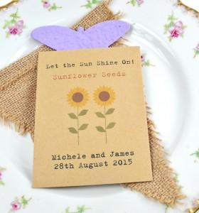 sunflower seeds wedding favour