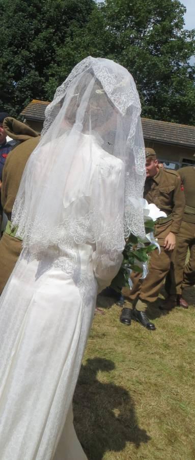 Wartime wedding dress
