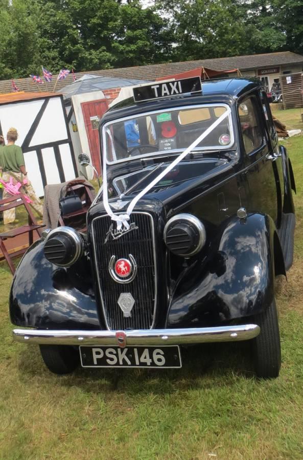 Wartime wedding car