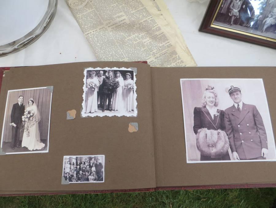Wartime wedding album