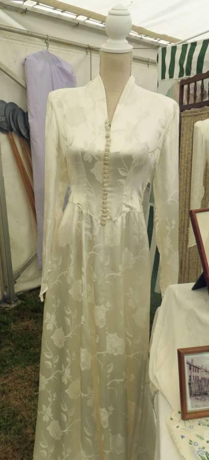 Wartime wedding dress, ivory